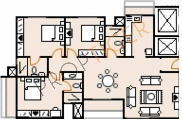 Sobha Magnolia (3BHK+3T (1,712 sq ft) Apartment 1712 sq ft)