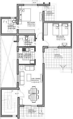 Vatika Iris Floors (2BHK+2T (1,133 sq ft) Apartment 1133 sq ft)