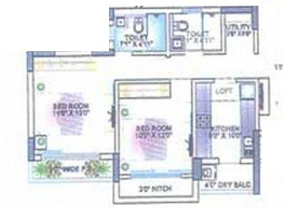 Lokhandwala Octacrest (2BHK+2T (1,120 sq ft) Apartment 1120 sq ft)