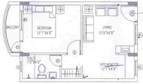 Shriram Samruddhi (1BHK+1T (524 sq ft) Apartment 524 sq ft)