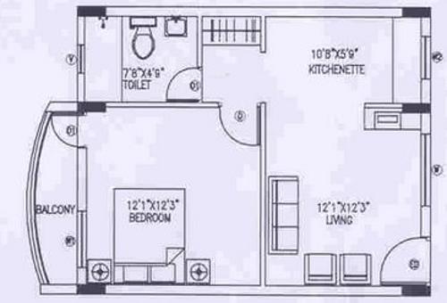 Shriram Samruddhi (1BHK+1T (639 sq ft) Apartment 639 sq ft)