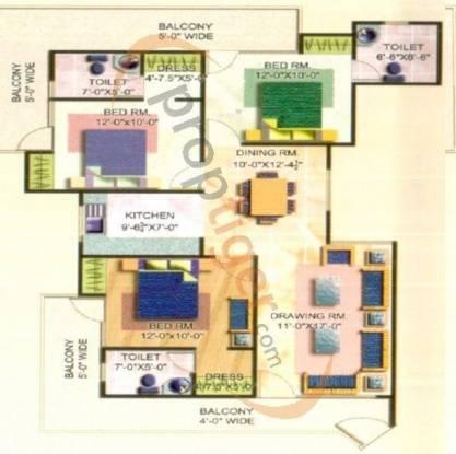 Rajhans Premier Apartment (3BHK+3T (1,795 sq ft) Apartment 1795 sq ft)
