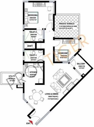 Sobha Sunscape (2BHK+2T (1,317 sq ft) Apartment 1317 sq ft)