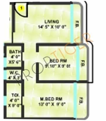 Sanghvi Shankheshwar Nagar (1BHK+1T (675 sq ft) Apartment 675 sq ft)