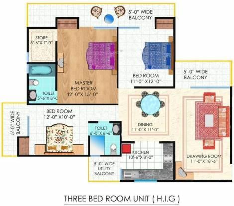Nirala Eden Park 1 (3BHK+2T (2,040 sq ft) Apartment 2040 sq ft)