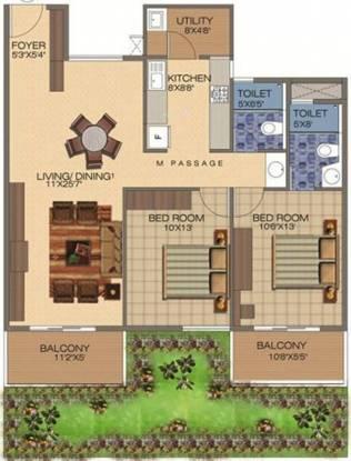 Kethana Blossom (2BHK+2T (1,169 sq ft) Apartment 1169 sq ft)
