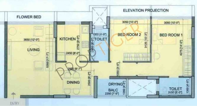 Runwal The Orchard Residency (2BHK+2T (1,225 sq ft) Apartment 1225 sq ft)