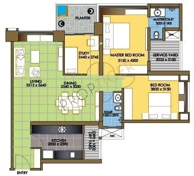Oberoi Realty Springs Oberoi Realty Springs (2BHK+2T + Study Room)