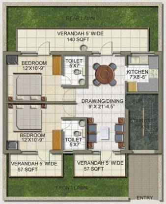 SS The Lilac (2BHK+2T (960 sq ft) Apartment 960 sq ft)