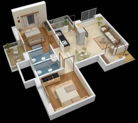 Omega Paradise (2BHK+2T (945 sq ft) Apartment 945 sq ft)