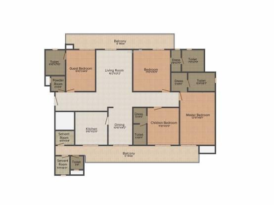 ABW La Lagune (4BHK+4T (3,160 sq ft) Apartment 3160 sq ft)