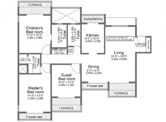 Regency Crest (3BHK+3T (1,770 sq ft) Apartment 1770 sq ft)