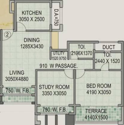 Concrete Sai Saakshaat (2BHK+2T (1,205 sq ft) Apartment 1205 sq ft)