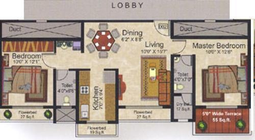 Swastik Windsor Heights (2BHK+2T (1,140 sq ft) Apartment 1140 sq ft)