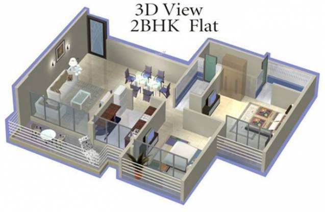 Vision Phoenix Heights (2BHK+2T (1,000 sq ft) Apartment 1000 sq ft)
