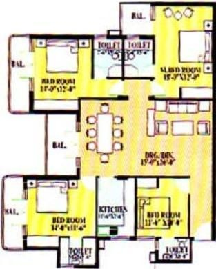 Ardee The Residency (4BHK+4T (1,660 sq ft) Apartment 1660 sq ft)