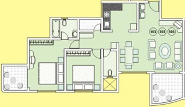 Tejas Elysian Apartment (2BHK+2T (1,362 sq ft) Apartment 1362 sq ft)