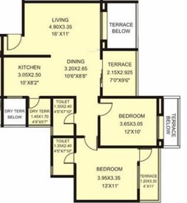 Rachana My World (2BHK+2T (1,145 sq ft) Apartment 1145 sq ft)