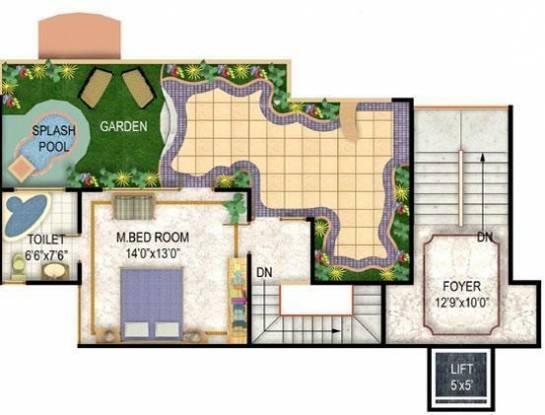 Niho Saffron Scottish Garden (3BHK+3T (1,545 sq ft) Apartment 1545 sq ft)