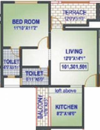 Raviraj Colorado (1BHK+2T (645 sq ft) Apartment 645 sq ft)