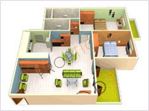 GR GR Lavender (2BHK+2T (1,310 sq ft) Apartment 1310 sq ft)