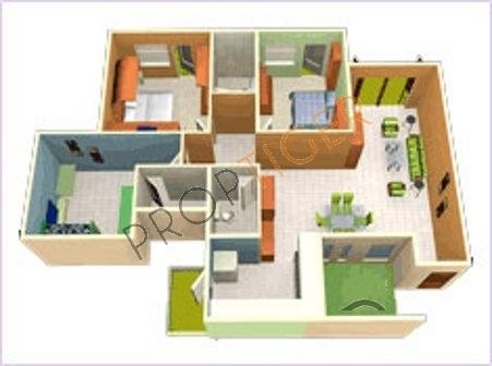 GR GR Lavender (3BHK+3T (1,750 sq ft) Apartment 1750 sq ft)