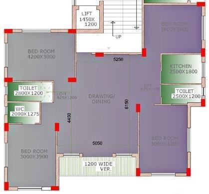 Mayfair Espana (4BHK+3T (1,800 sq ft) Apartment 1800 sq ft)
