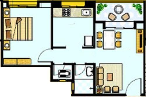 Gulmohar Helios (1BHK+1T (585 sq ft) Apartment 585 sq ft)