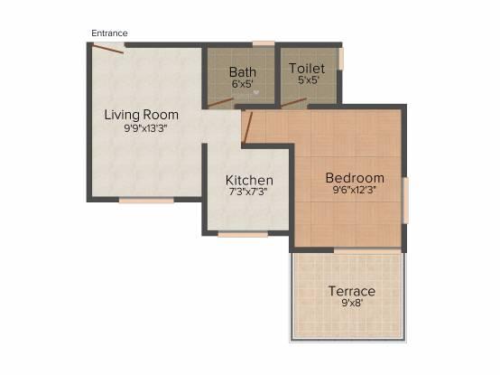 Aurum Elementto (1BHK+1T (625 sq ft) Apartment 625 sq ft)