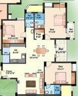 Akshaya Adora (3BHK+3T (1,909 sq ft) Apartment 1909 sq ft)
