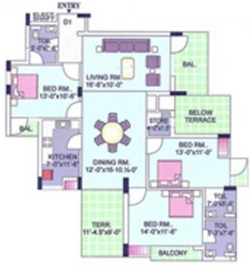 CGHS Group NPSC Apartment CGHS Group NPSC Apartment (3BHK+3T)