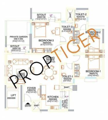 Sobha Ruby Platinum (3BHK+3T (1,700 sq ft) Apartment 1700 sq ft)