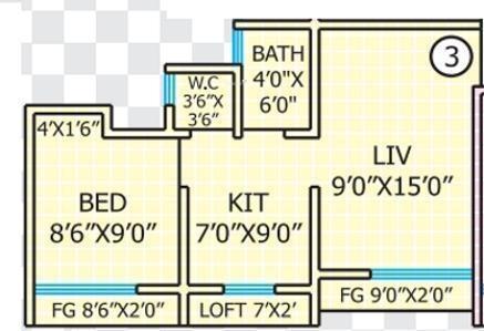 Rashmi Star City (1BHK+1T (480 sq ft) Apartment 480 sq ft)