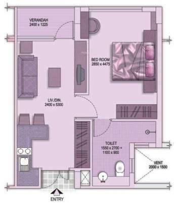 Shrachi Senior Citizen Apartments (1BHK+1T (566 sq ft) Apartment 566 sq ft)