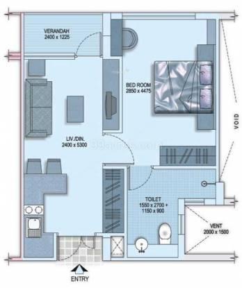 Shrachi Senior Citizen Apartments (1BHK+1T (605 sq ft) Apartment 605 sq ft)