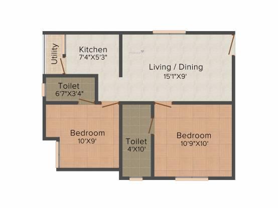 Pace Prana (2BHK+2T (672 sq ft) Apartment 672 sq ft)