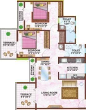 Regency Meadows (2BHK+2T (1,155 sq ft) Apartment 1155 sq ft)