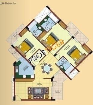 Ramprastha Pearl Court (3BHK+3T (1,900 sq ft) Apartment 1900 sq ft)