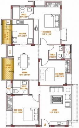 Casagrand Silver Oak (3BHK+3T (1,550 sq ft) Apartment 1550 sq ft)