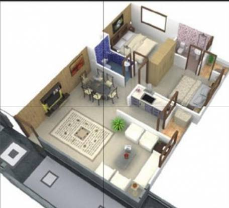Space Space Park I (2BHK+2T (1,060 sq ft) Apartment 1060 sq ft)