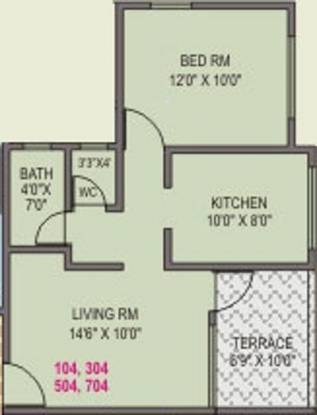 Dharmavat Sunder Samruddhi (1BHK+1T (591 sq ft) Apartment 591 sq ft)