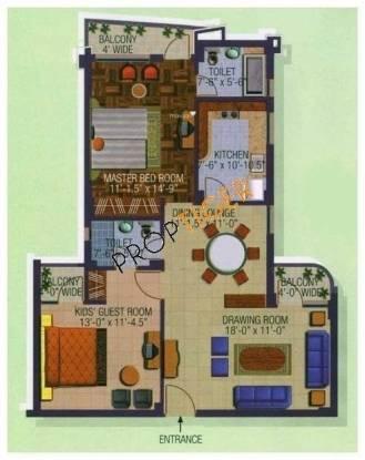 Divine Solitaire Divine (2BHK+2T (1,357 sq ft) Apartment 1357 sq ft)