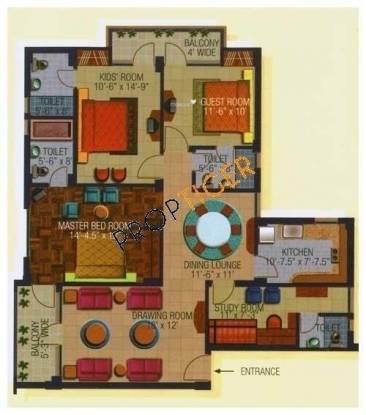 Divine Solitaire Divine (3BHK+3T (1,685 sq ft) Apartment 1685 sq ft)