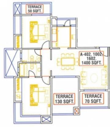 Bhumiraj Iraisaa (2BHK+2T (1,400 sq ft) Apartment 1400 sq ft)