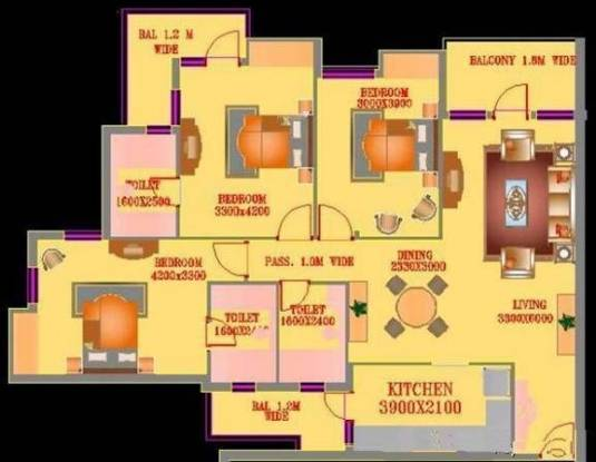 ATS Village (3BHK+3T (1,750 sq ft) Apartment 1750 sq ft)