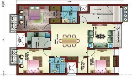 Ansal Victoria Floors (3BHK+3T (1,425 sq ft) Apartment 1425 sq ft)