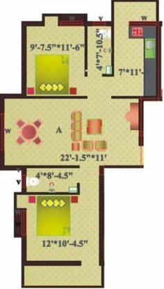 Sree Homes Alaya Appartment (2BHK+2T (1,030 sq ft) Apartment 1030 sq ft)