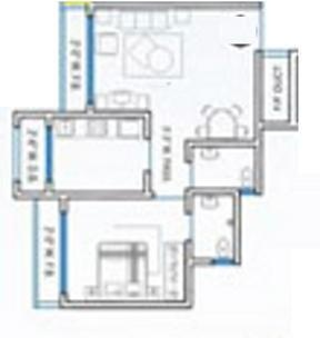 RNA NG Suncity Phase III (1BHK+1T (871 sq ft) Apartment 871 sq ft)