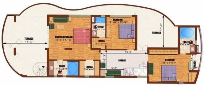 Eldeco Utopia (3BHK+3T (1,675 sq ft) Apartment 1675 sq ft)
