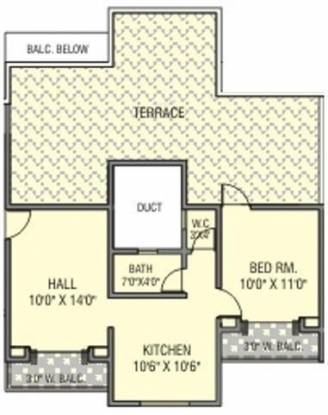 Anandtara Tarabai Park (1BHK+1T (775 sq ft) Apartment 775 sq ft)